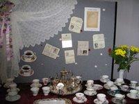 Grandma's old passports and tea